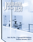 Journal of the IEST Vol. 54, No. 1 Special ISO Edition - Online January 2011
